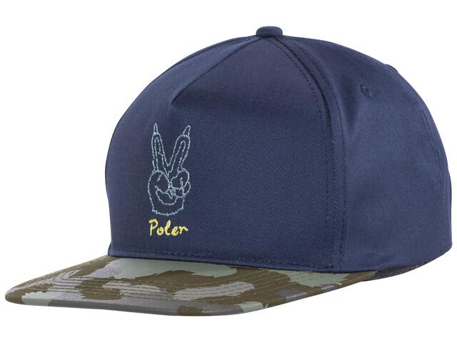 POLER Peace Paw Snapback Hovedbeklædning blå